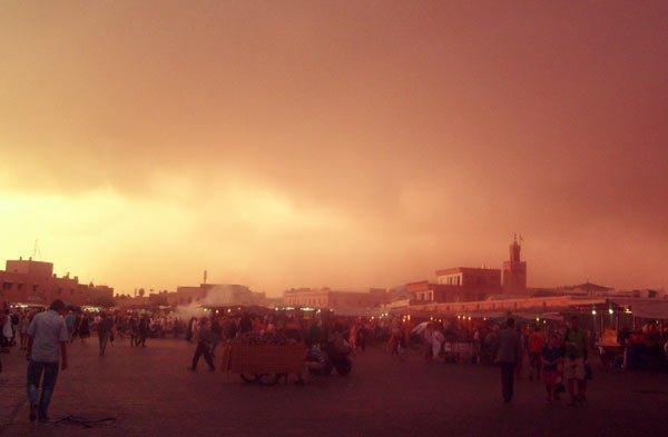 Der Djemaa el Fna in Marrakesch