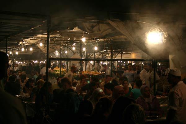 Garküchen auf dem Djemaa el Fna