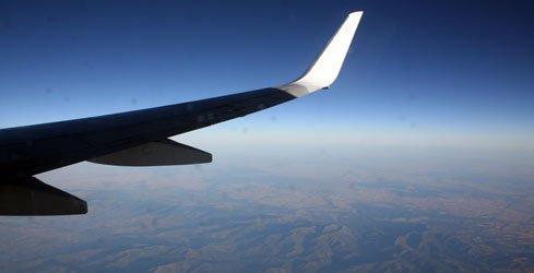 Im Flugzeug nach Marrakesch