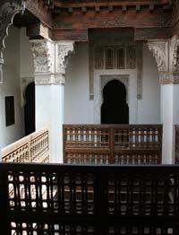 Innenhof in der Koranschule Ben Youssef in Marrakesch