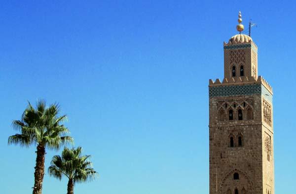 Sykline von Marrakesch mit Koutoubia-Moschee