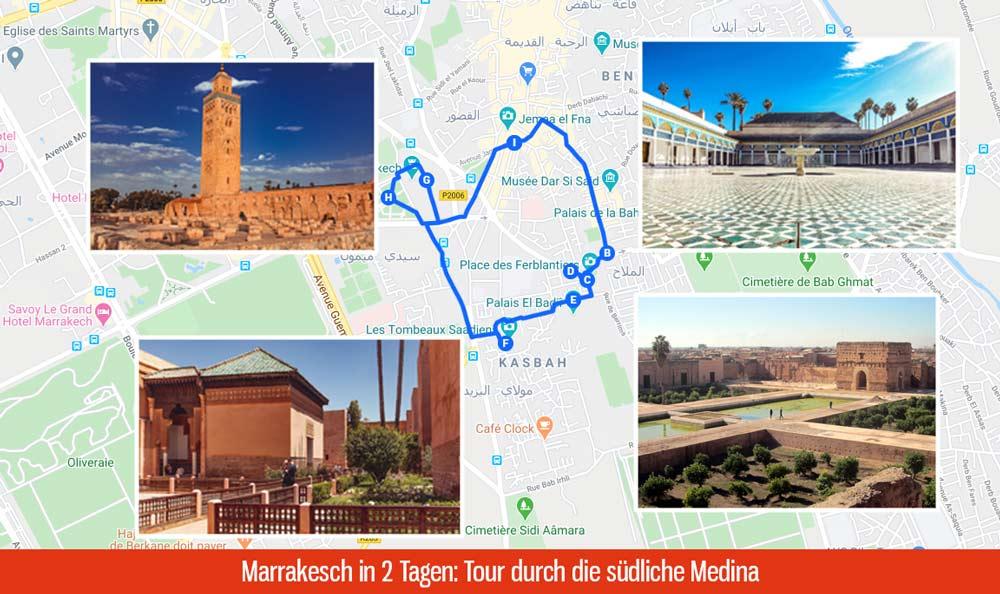 Sehenswürdigkeiten in Marrakesch in 2 Tagen