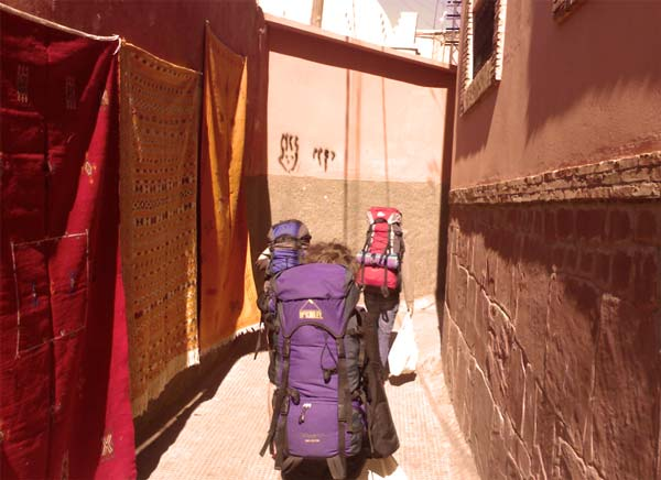 Backpacking in Marrakesch, Marokko