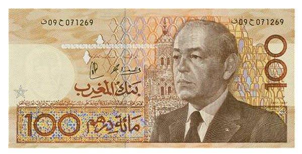 Geld Marokko Hundert dirham Schein