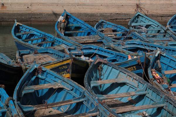 Ausflugsziel Essaouira Boote Marokko