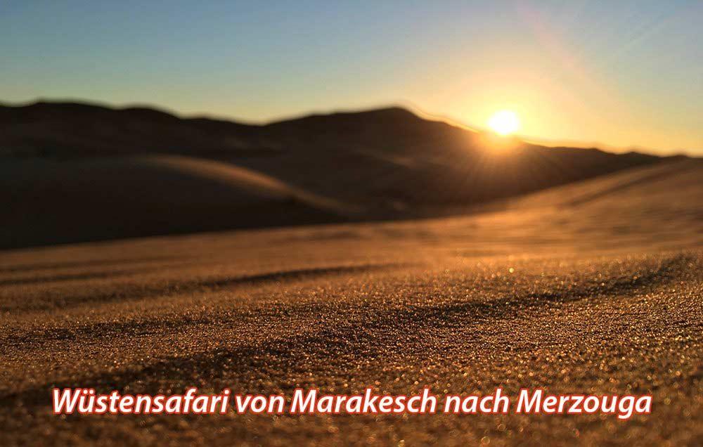 Wüstentour Marokko Merzouga