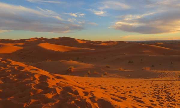 Die Sanddünen von Merzouga
