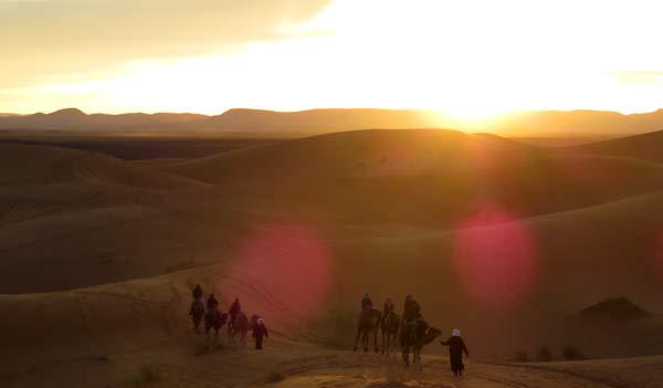 Wüstentour Merzouga Karawane