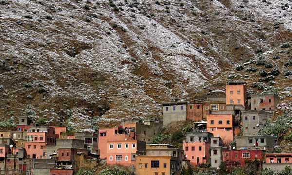 Das winterliche Dorf Setti Fatma im Atlasgebirge
