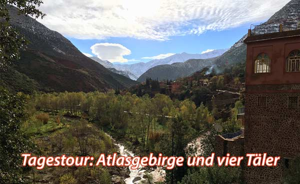 Tagestour Atlasgebirge und vier Täler