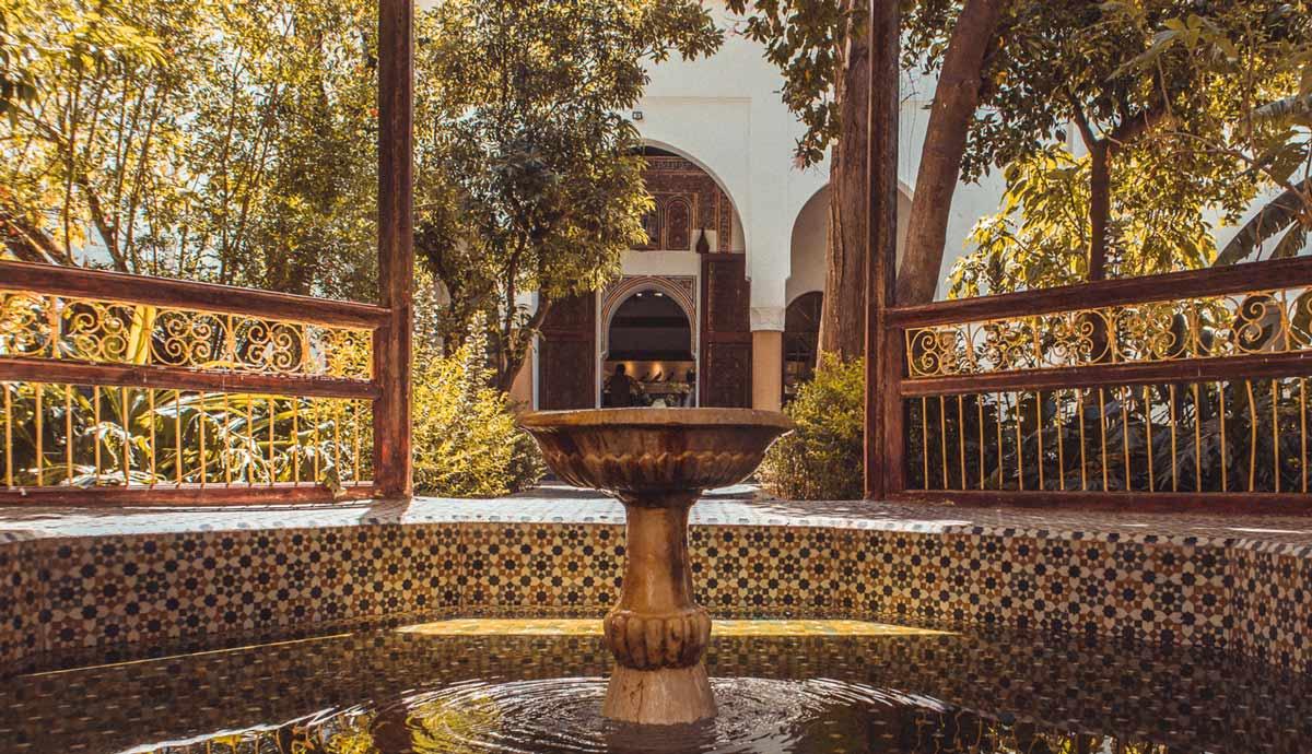 Andalusisches Wasserbecken im Museum Dar Si Said