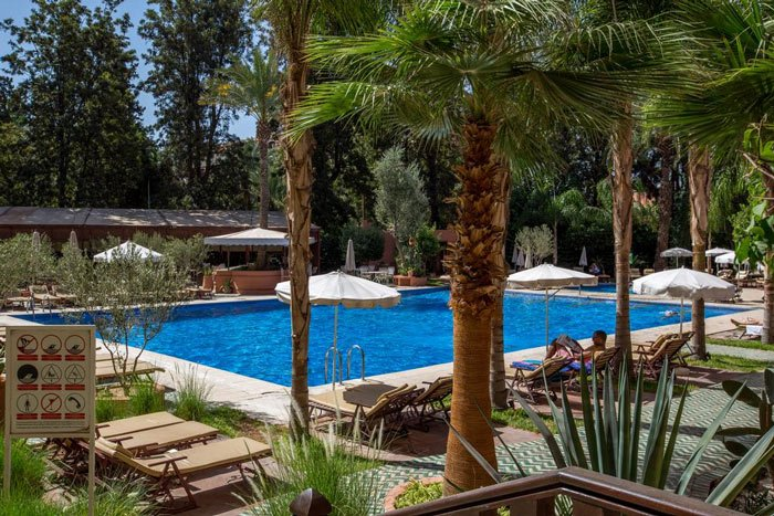 Pool des Hotel El Andalous in Marrakesch