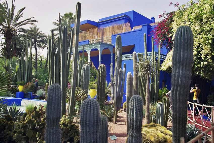 Du warst nicht im Marrakesch Urlaub, wenn du das Blau des Jardin Majorelle nicht gesehen hast