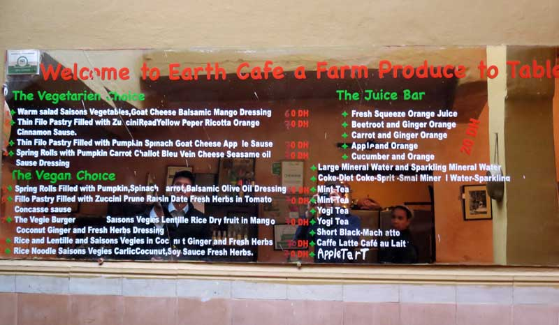 Earth Café: Vegetarisch / veganes Restaurant in Marrakesch