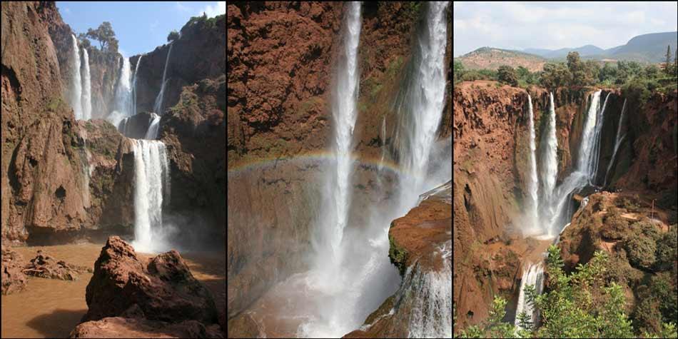 Die Ouzoud-Wasserfälle sind die größten Marokkos