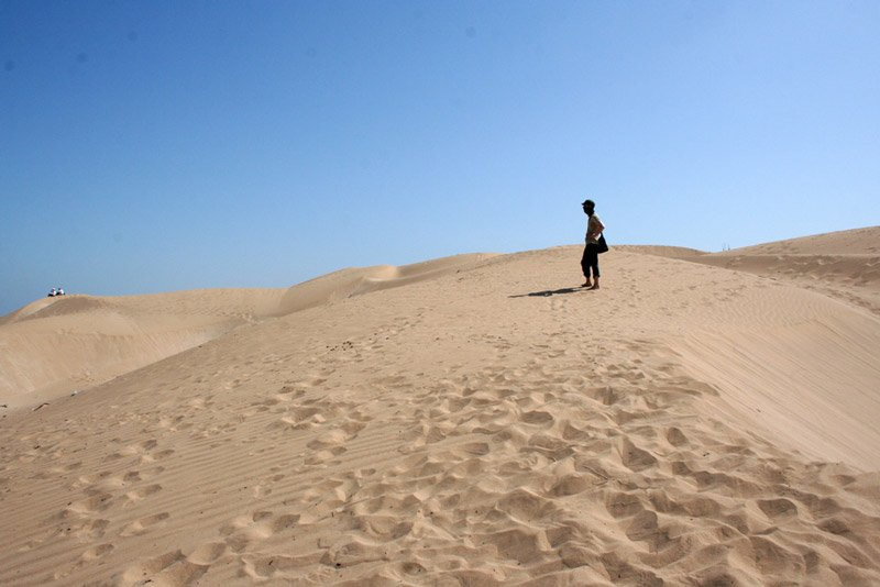 Sanddünen in Essaouira, Marokko