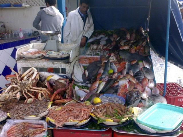 Fischmarkt in Essaouira, Marokko