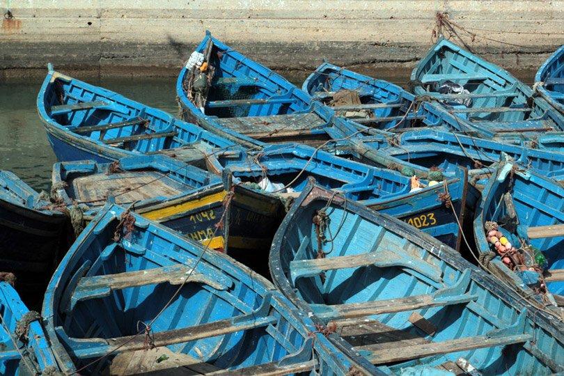 Fischerboote in Essaouira, Marokko
