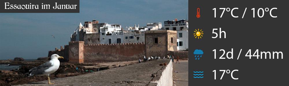 Wetter Essaouira Januar