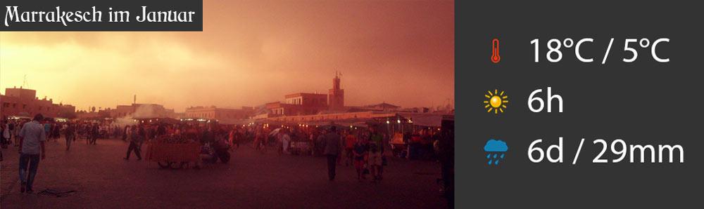 Wetter Marrakesch Januar