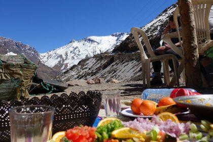 Mittagspause während der Wanderung