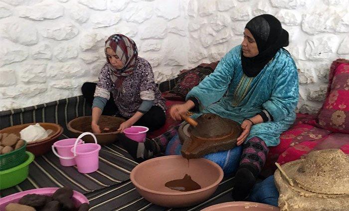 Herstellung von Arganöl in Marokko