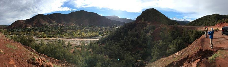 Panorama Ourika-Tal, Marokko