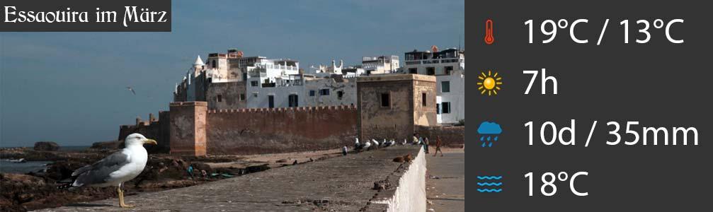 Essaouira im März Wetter