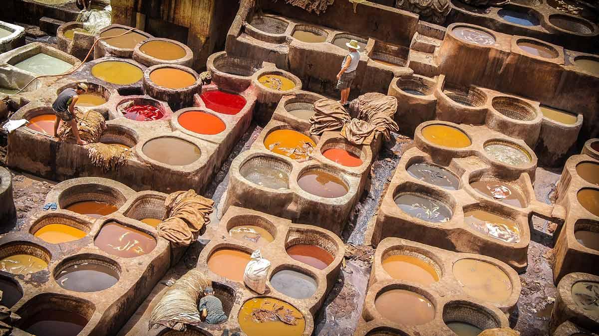 Gerberei in Marrakesch, beliebter Ort für einen Betrug