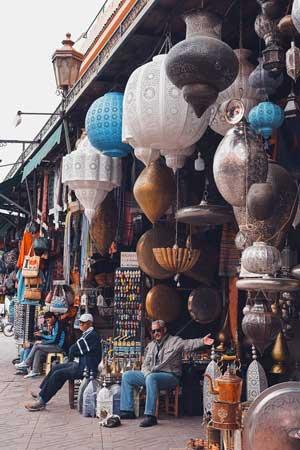 Strassenhändler in Marrakesch