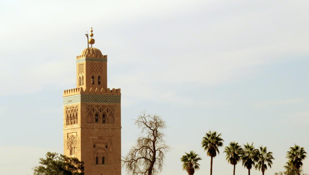 Die berühmte Koutoubia-Moschee in Marrakesch