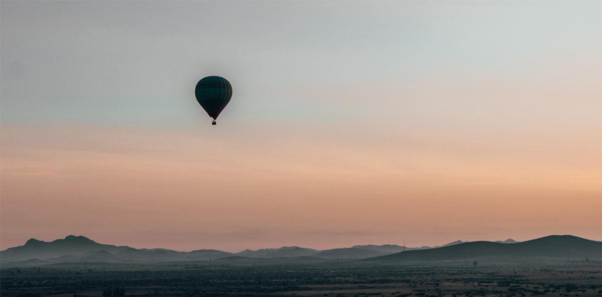 Ballonfahren in Marrakesch