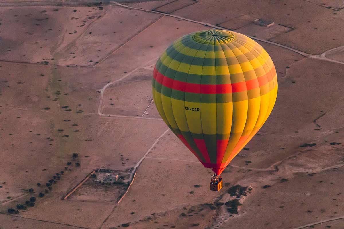 Ballonfahrt in der Nähe von Marrakesch