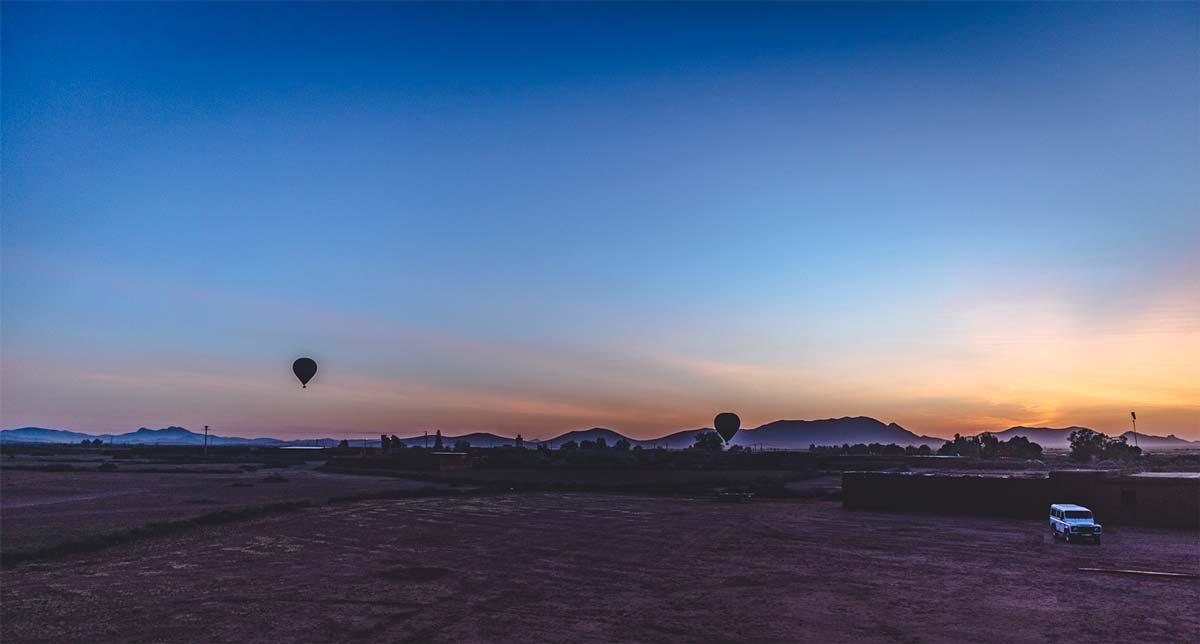 Im Morgengrauen in der Nähe von Marrakesch