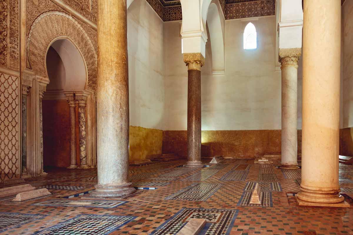 Saadiergräber Marrakesch: Raum des Mihrab