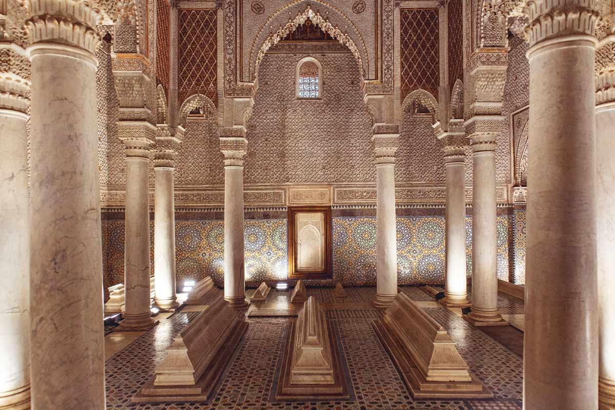 Saadier-Gräber Marrakesch: Raum der 12 Säulen