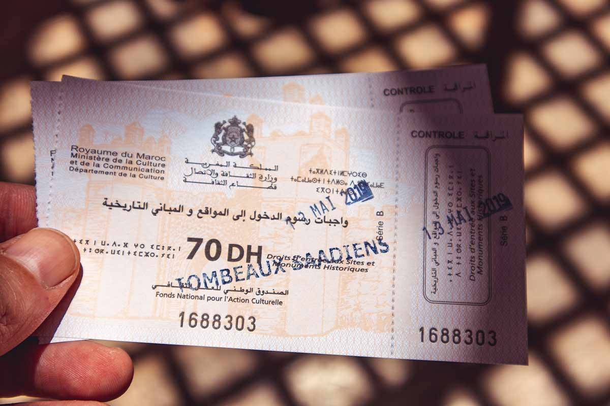 Saadiergräber Marrakesch: Eintritt