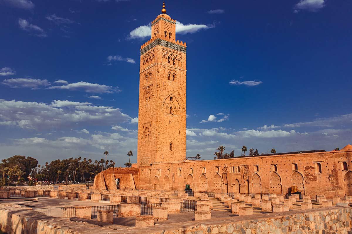 Alte Fundamente der Koutoubia-Moschee Marrakesch
