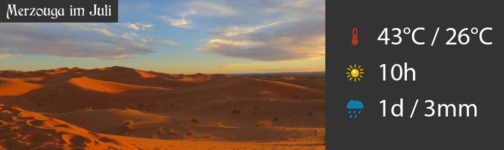 Merzouga im Juli Wüste