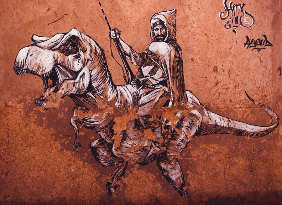 Streetart in Ouarzazate, Marokko