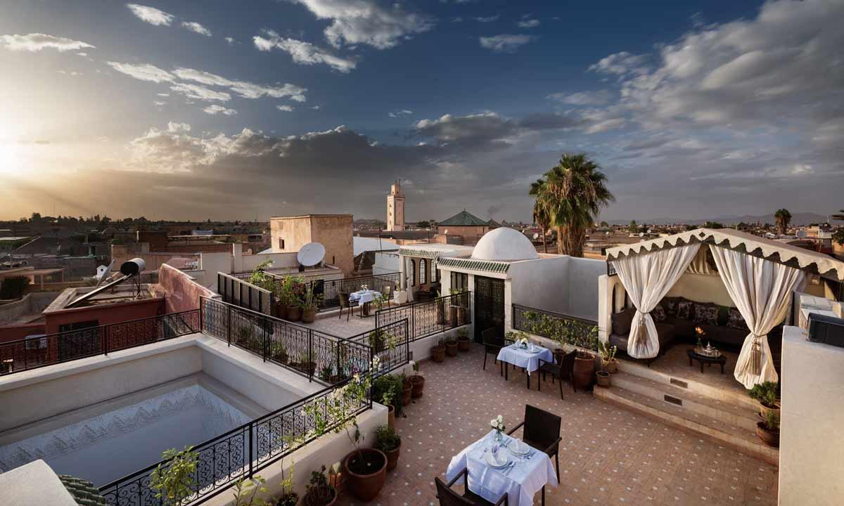 Panorama von der Dachterrasse des Riad Star in Marrakesch