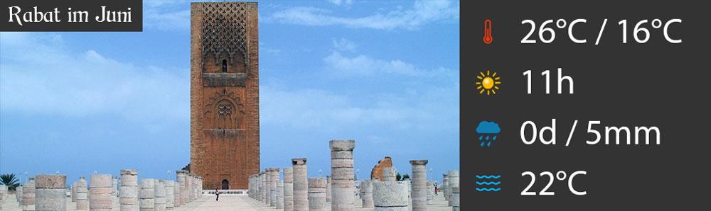 Rabat im Juni