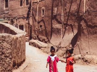 Kinder in Ouarzazate, Marokko