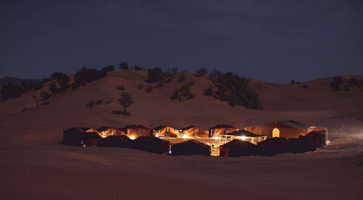 Wüstencamp Erg Chegaga Marokko