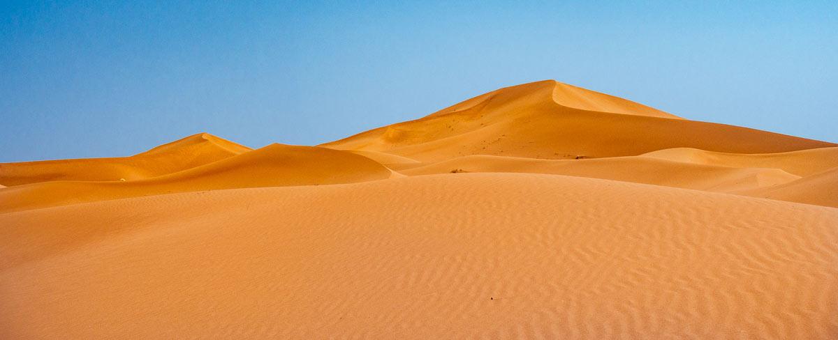 Sanddünen in Marokko Wüste Erg Chegaga
