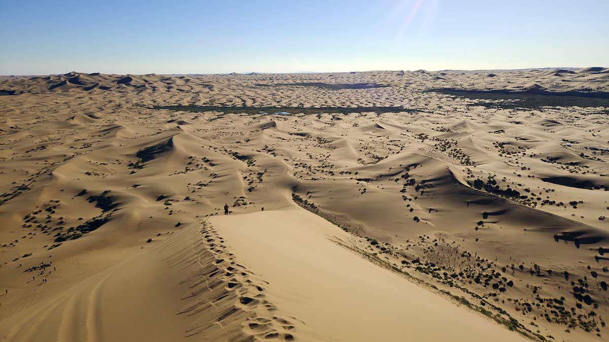 Die Sandwüste Alxa ist Teil der Wüste Gobi