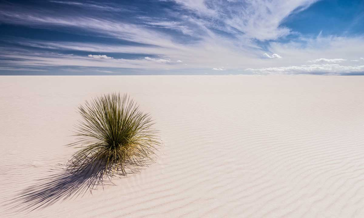 White Sands Monument in New Mexico,