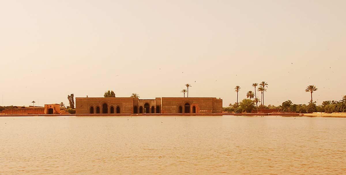 Wasserbecken im Agdal Garten Marrakesch