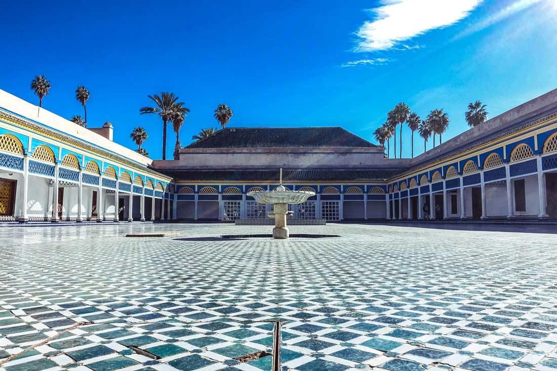 Ehrenhof im Bahia-Palast Marrakesch