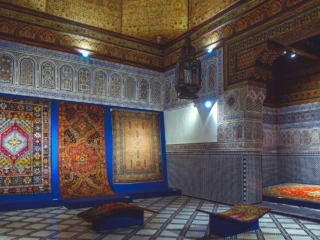 Teppiche im Museum Dar Si Said in Marrakesch